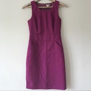J.Crew Factory Pleated Career Dress in Plum Size 2